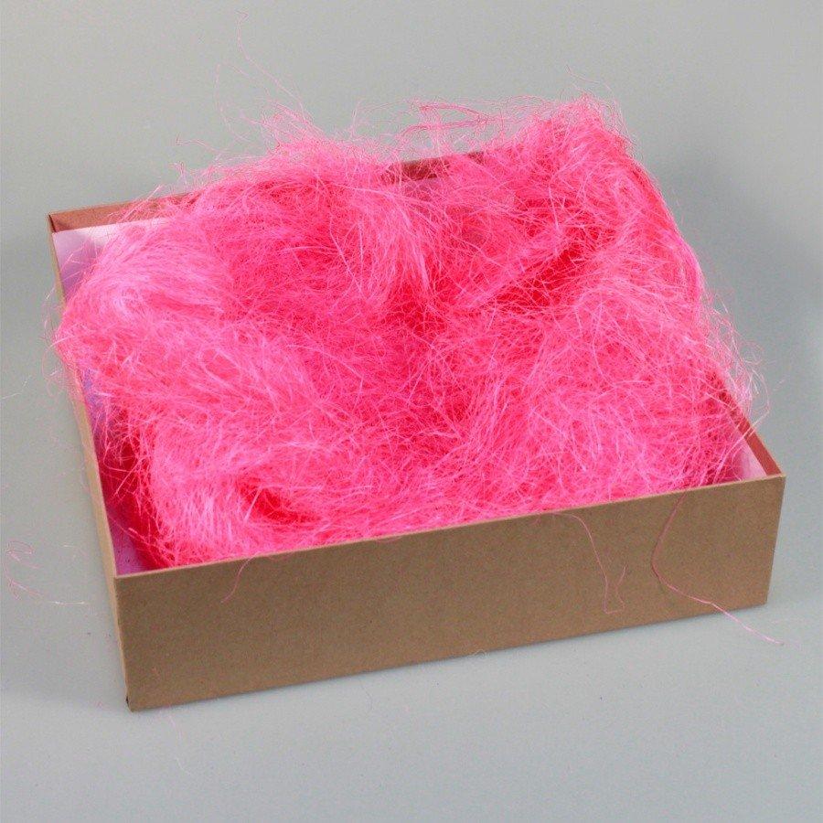 Наполнитель для коробок сизаль Яр.розовый 100 гр/уп 100т.м.