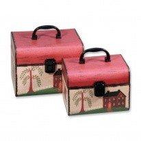 Коробка/набор Сундучок 22*17*17,8 из 2 шт./ 18 т.м.