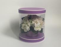 Коробка под цветы  Цилиндр Прозрачный 220*220*260 из 1 шт./ 36 т.м.